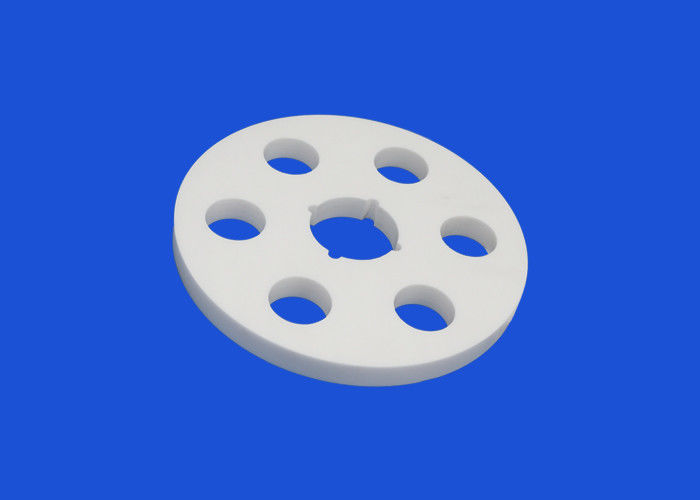White Alumina Ceramic Disc High Temp Resistance Up Tp 1700 Celsius